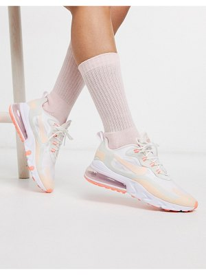 Nike air max 270 react trainers in pastel multi-cream