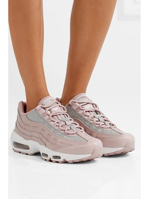 Nike air max 95 glittered leather and suede sneakers