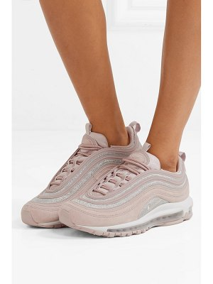 Nike air max 97 glittered leather and suede sneakers