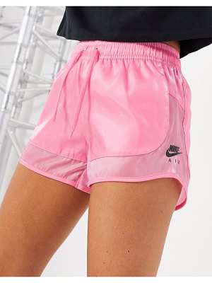 Nike air translucent shorts in pink