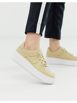 Nike beige air force 1 sage low sneakers