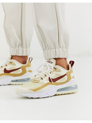 Nike beige air max 270 react sneakers