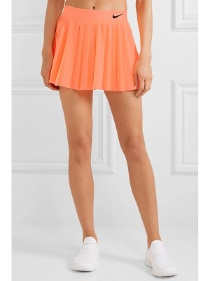 Nike court victory pleated neon dri-fit stretch skirt