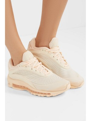 Nike nike air max deluxe corduroy and leather sneakers