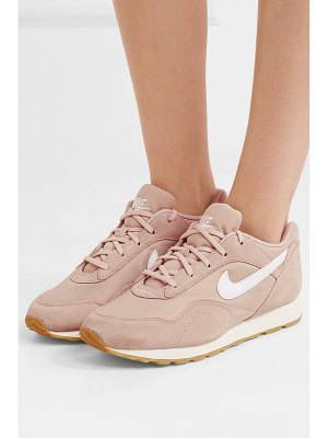 Nike outburst suede, mesh and leather sneakers