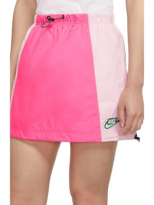 Nike sportswear icon clash colorblock drawstring skirt