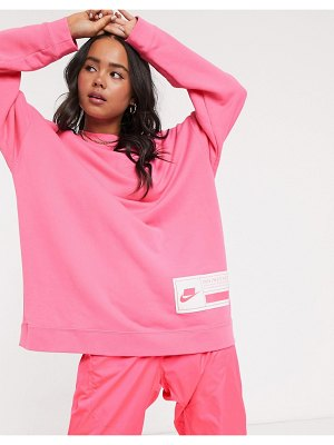 Nike super oversized pink sweatshirt