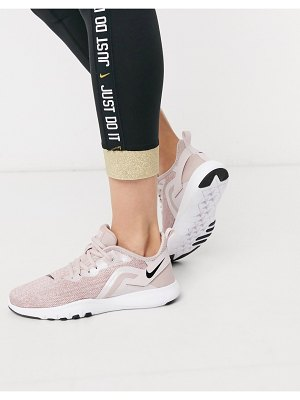 Nike Training flex sneakers in rose gold-pink