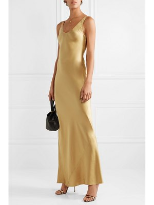 Nili Lotan bazile silk-satin maxi dress