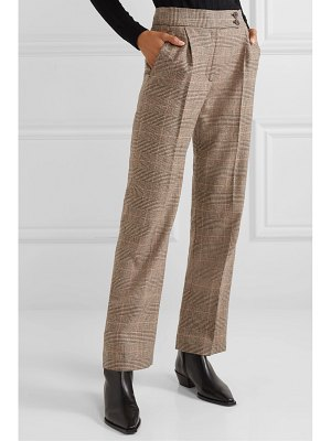 Nili Lotan charlotte prince of wales checked wool-blend straight-leg pants