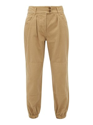Nili Lotan high-rise cotton trousers