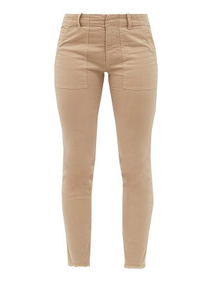 Nili Lotan jenna cropped cotton-blend slim-leg trousers