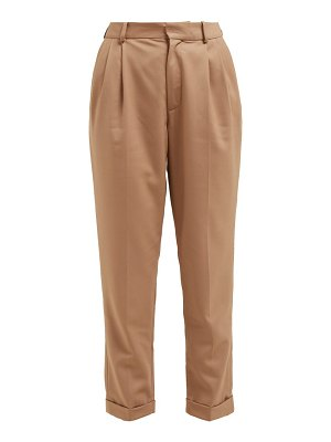 Nili Lotan montana pleated virgin wool twill trousers