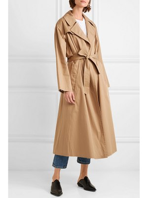 Nili Lotan topher distressed cotton-gabardine trench coat