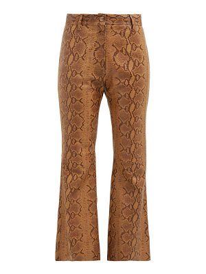 Nili Lotan vianna python-print leather trousers
