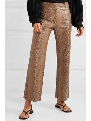 Nili Lotan vianna snake-effect leather flared pants