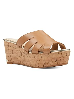 Nine West victoria cutout wedge slide sandal