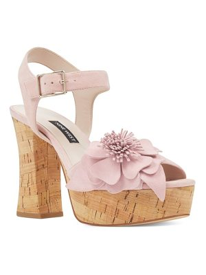 NINE WEST Winflower Flower Platform Sandal