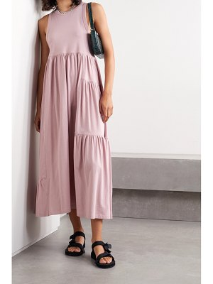 Ninety Percent mono gathered organic cotton-jersey maxi dress