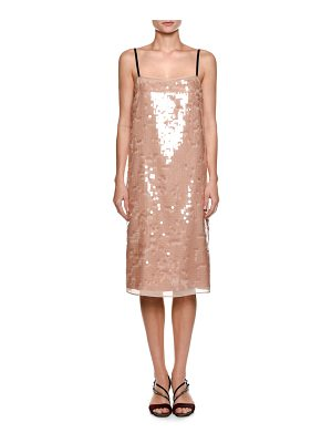 NO. 21 Cipria Sleeveless Sequin Cocktail Dress