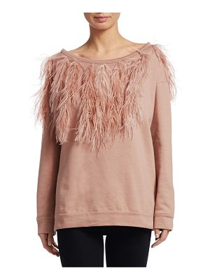 NO. 21 Ostritch Feather Sweatshirt