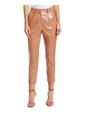 No. 21 pvc cropped ankle pants