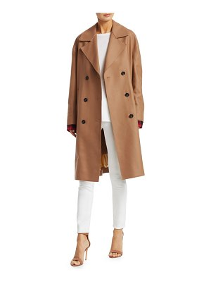 No. 21 wool-blend double-breasted camel coat