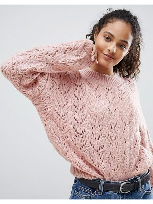 NOBODY'S CHILD Relaxed Sweater In Textured Knit