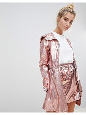 Noisy May metallic festival parka
