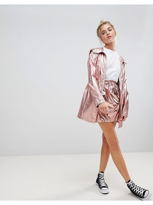 Noisy May metallic skirt