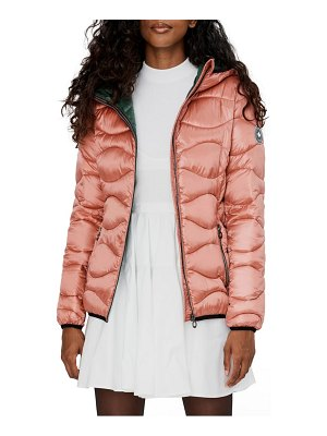 NOIZE packable quilted hooded jacket