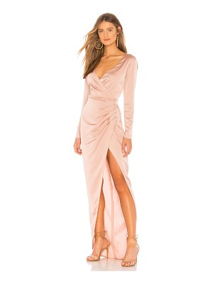 Nookie Saskia Satin Long Sleeve Gown