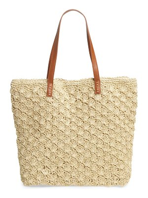 Nordstrom barnet metallic straw packable woven tote