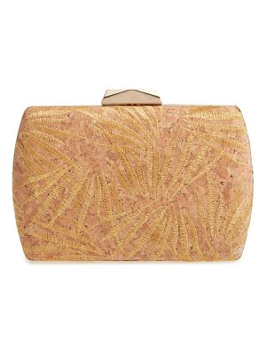 Nordstrom embroidered cork minaudiere