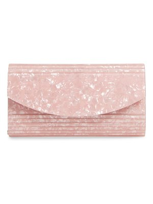 Nordstrom rounded lucite flap clutch