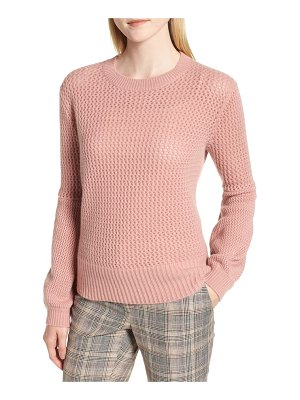 Nordstrom Signature multistitch cashmere sweater