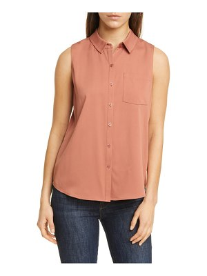 Nordstrom Signature sleeveless stretch silk shirt