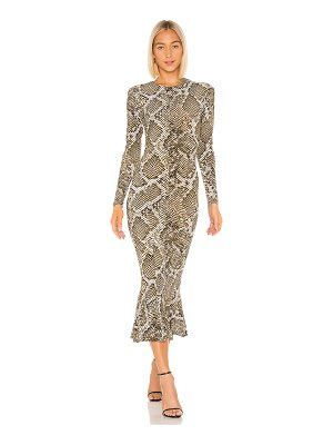 Norma Kamali crew fishtail dress
