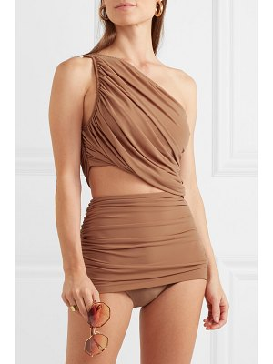 Norma Kamali diana and bill one-shoulder ruched bikini