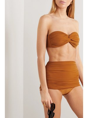 Norma Kamali johnny d ruched bandeau bikini top