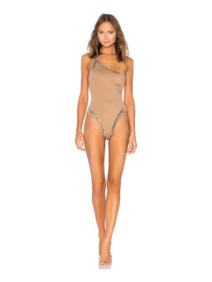 Norma Kamali Stud One Shoulder One Piece