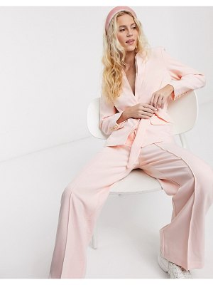 Notes Du Nord oprah belted blazer in soft pink