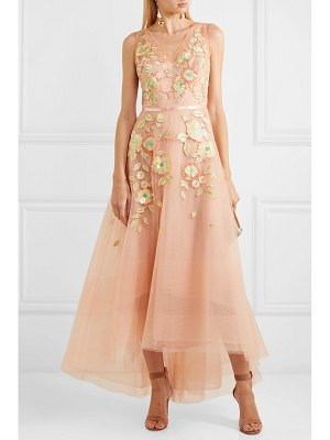 Notte by Marchesa embellished embroidered tulle gown