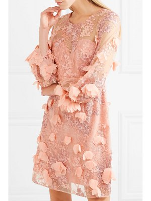 Notte by Marchesa embellished tulle and lace dress