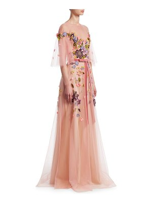 Notte by Marchesa floral belted gown