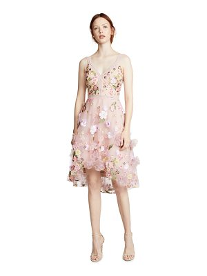 Notte by Marchesa floral embroidered cocktail dress
