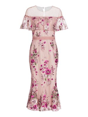 Notte by Marchesa off-the-shoulder embroidered dress