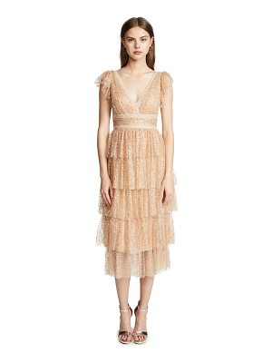 Notte by Marchesa glitter tulle cocktail dress