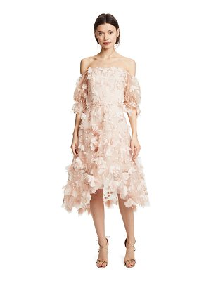 NOTTE BY MARCHESA Off Shoulder Cocktail Dress With 3d Flowers
