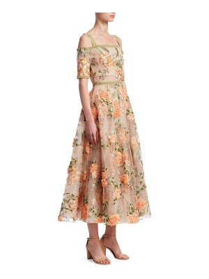 Notte by Marchesa off-the-shoulder embroidered floral gown